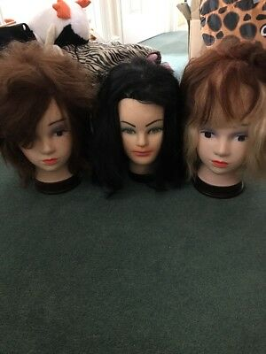 Hairdressing Practice Heads X3