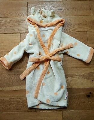 Emma Thomson Isabella's TOY BOX hooded Dressing Gown Giraffe style 9-12 months