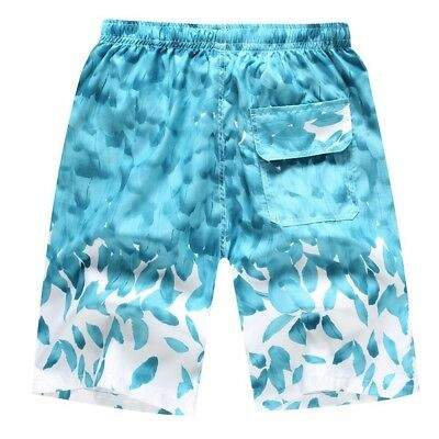 (M=US S, C) - Camouflage Beach Trunks for Men - Hjuns Tropical Quick Dry Beach S