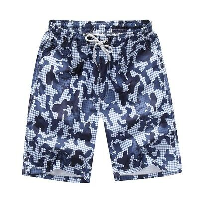 (3XL=US 2XL, G) - Camouflage Beach Trunks for Men - Hjuns Tropical Quick Dry Bea