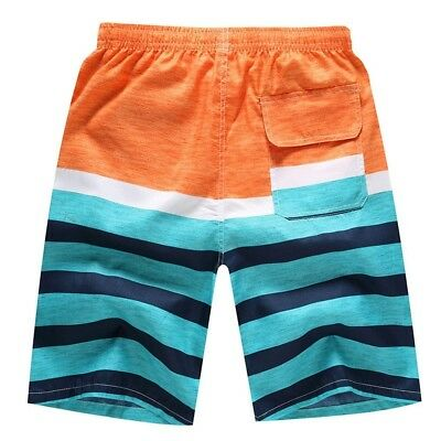 (M=US S, E) - Camouflage Beach Trunks for Men - Hjuns Tropical Quick Dry Beach S