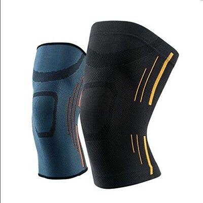 (Medium, Black) - HUI Neoprene knee compression brace sleeve supports knees GYM