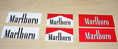 Twelve Marlboro banners for Scalextric / Model trains