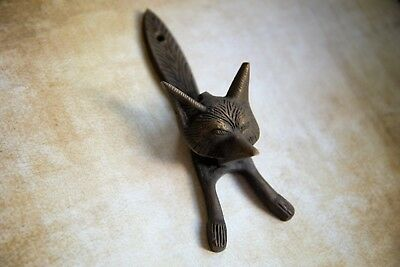 Antique Bronze Fox Metal Door Knocker | Vintage Style Solid Brass Knocker
