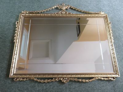 Reproduction Georgian Mirror with bevelled glass and decorative scroll frame