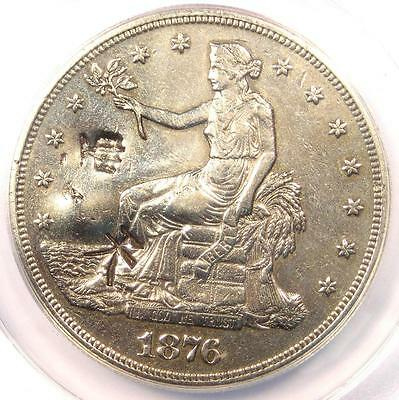1876-CC Doubled Die Reverse Trade Silver Dollar T$1 DDR FS-801 - ANACS XF40 Dets