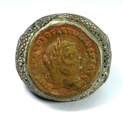 Antique Bronze Roman Ring Ancient Empire Wearable Legionary Artifact Decorated