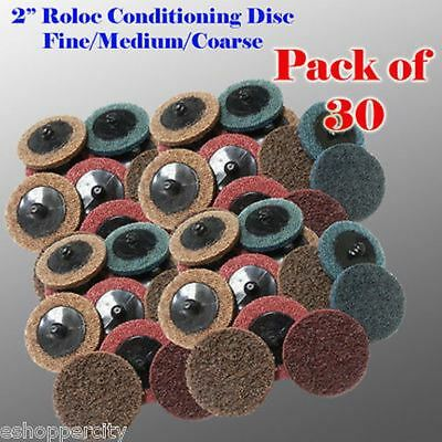 "30 Mix 2"" Roloc Surface Conditioning Sanding Disc Fine Medium Coarse USA MADE"