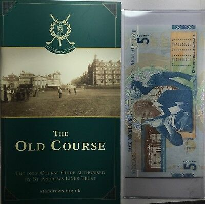 2005 Jack Nicklaus £5 Royal Bank of Scotland note with The Old Course Booklet