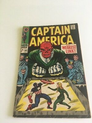 Marvel Comics CAPTAIN AMERICA  #103 RED SKULL Marvel Comic