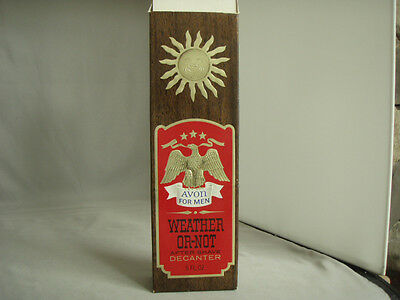 Vintage Avon Weather-Or-Not AfterShave Wild Country Decanter EMPTY Bottle is MIB