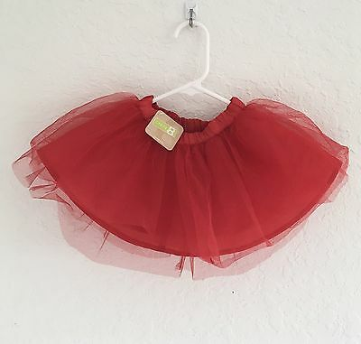 Crazy 8 Girls Red Tutu Skirt 6-12 Months New With Tag