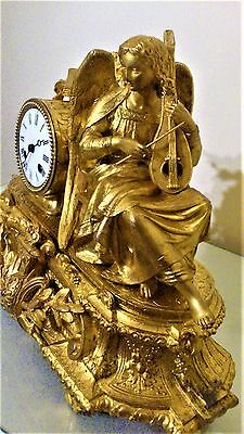 Antique French Ormolu Figural Mantel Clock