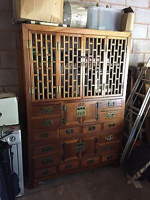 Large Chinese Wood Cabinet