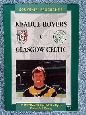 1996 - KEADUE ROVERS v CELTIC PROGRAMME - FRIENDLY