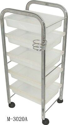 White Hairdressing Trolley Salon Equipment Furniture Barbershop (M3020A)