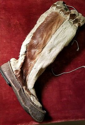 Antique Native American Boot / Mukluk from Upper New York State