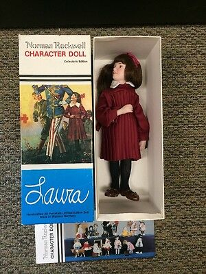 Vintage Norman Rockwell Character Doll LAURA + Original Box #683 1983