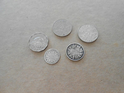 Canadian Silver Coins and Nickels 1888, 1904, 1928, 1935, and 1949