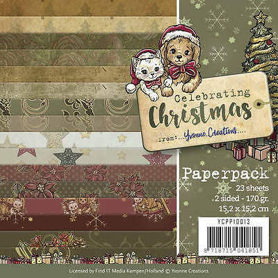 Motivpapier Yvonne Creations - Celebrating Christmas - YCPP10013