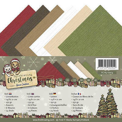 Leinenpapier - A5 - Celebrating Christmas -  YC-A5-10014
