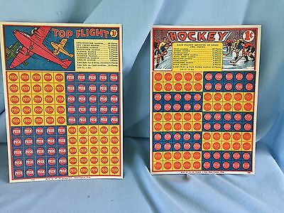 Vintage Punch Boards, Unpunched unused 1940's