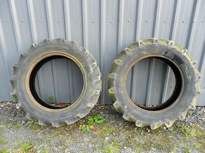 2 used  360/70/28 tractor tyres with tubes