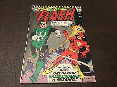 The Flash #168 VG/FN Green Lantern!