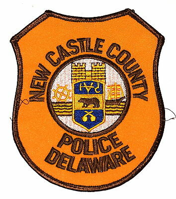 NEW CASTLE COUNTY - POLICE - DELAWARE DE  Police Sheriff Patch OLD ~