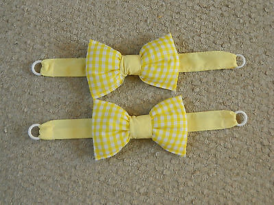 Yellow Gingham Nursery/bedroom Tie Backs, Brand New Hand Made, Different Colours