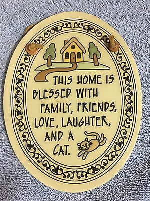 This Home is Blessed With Family Friends Love Laughter and Cat Trinity Pottery