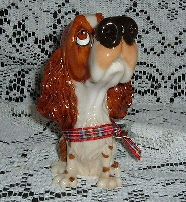 "Ben Springer Spaniel Little Paws 5"" Tall Dog Figurine Arora Uk Bone Tag New"