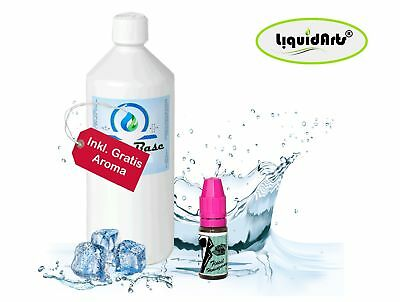 Basis Liquid Base 1000ml 1Liter inkl. Gratis Aroma  eliquid Nikotin Shots