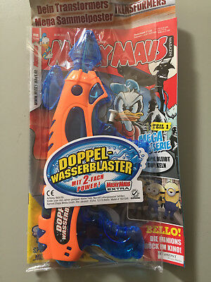 Disney Comic MICKY MAUS 27-28/2017 Beilage DOPPEL-WASSERBLASTER / TRANSFORMERS