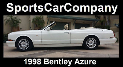 1998 Bentley Azure Luxury Convertible 1998 BENTLEY AZURE CONVERTIBLE ABSOLUTELY BEAUTIFUL INSIDE + OUT SHOWSTOPPER