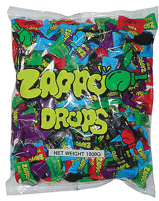 Zappo Drops 1kg 250 Assorted Flavours Buffet Candy Lollies Sweets Party Favors