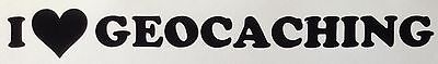 I Love Geocaching Decal Sticker Outdoor Quality Vinyl Any Colour Buy 2 Get 1Free