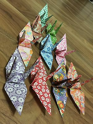 100 Large  Origami Cranes - Decorative - Gift - Scrappbooking - Party Supplies