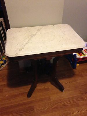 Vintage Parlor Marble Top Stand