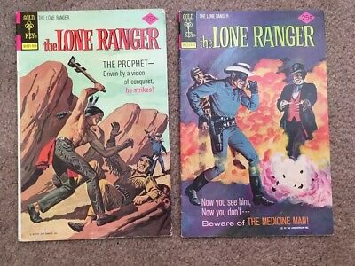 Two The Lone Ranger Comics Issues 22 and 23 Gold Key 1975