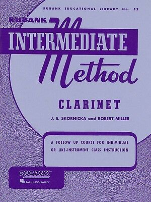 Rubank Intermediate Method - Clarinet Music Book