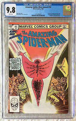 AMAZING SPIDER-MAN ANNUAL #16 CGC 9.8 W 1st/First Monica Rambeau Captain Marvel