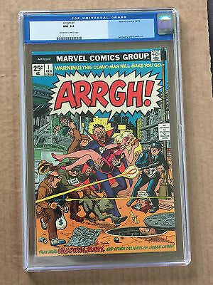 Arrgh! #1 Cgc 9.4 Ow/w Pages - Marvel (1974)