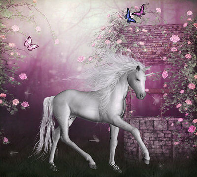 Modern Home art wall Decor Horse unicorn oil painting picture Printed on canvas