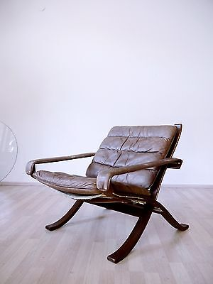 VINTAGE LEATHER 1970s INGMAR RELLING FLEX LOUNGE CHAIR FOR WESTNOFA