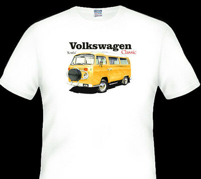 VW KOMBI   1970s     WHITE TSHIRT    MEN'S  LADIES  KID'S  SIZES