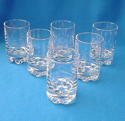 Set Of 6 Sturdy, Clear Glass Sherry Or Port Glasses - Unused