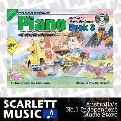 Progressive Piano Method For Young Beginners Book 3 ( Three / Third ) *WITH CD*