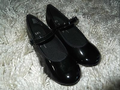 Girls Black Tap Shoes - Child's size 10 1/2 - NEW