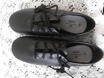 Black Leather Jazz Shoes - Child's size 13 1/2 - Split Sole - NEW